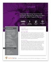 Case Study   Managed Marketing Services for Integrated Marcom Programs