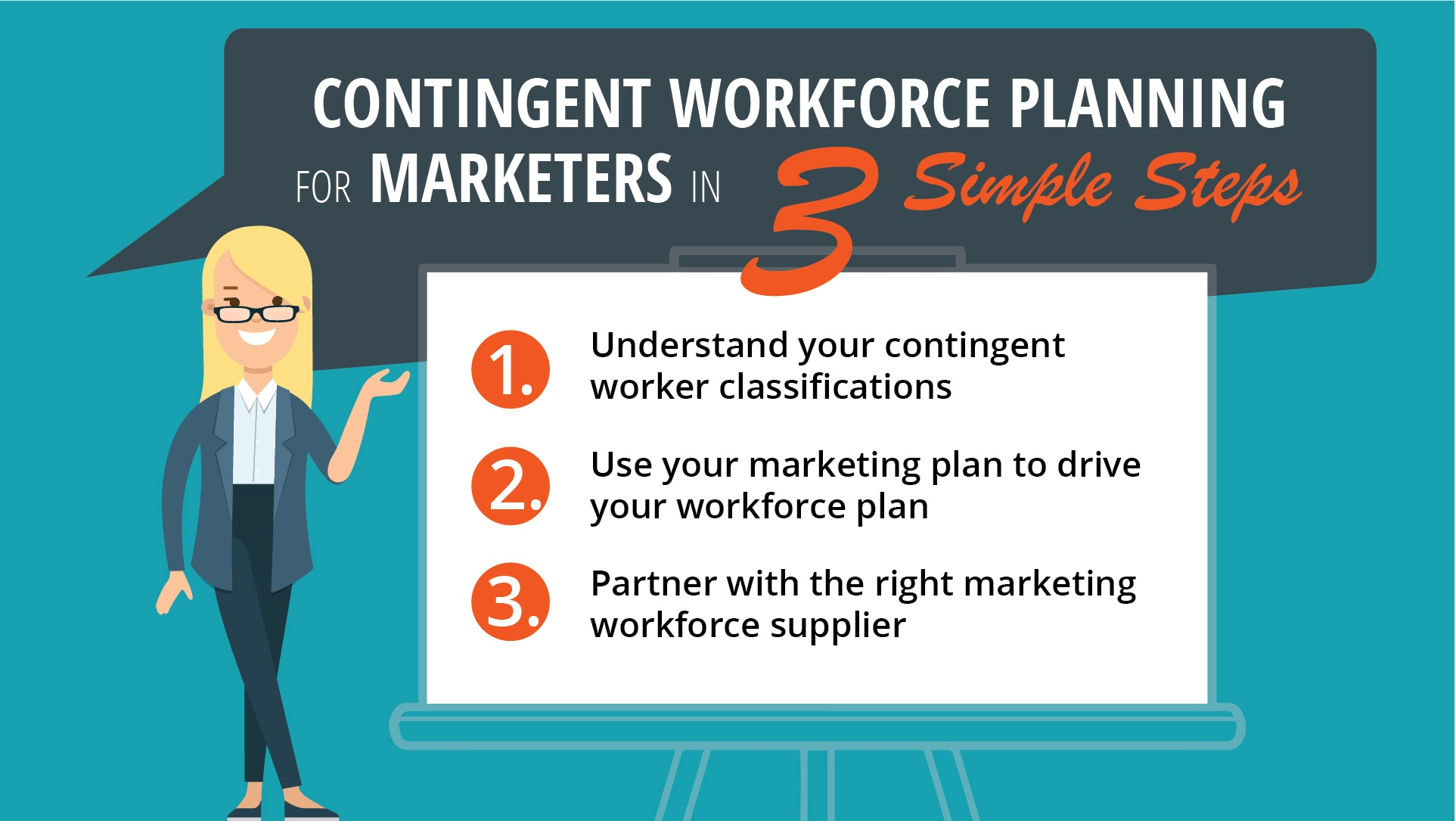Contingent workforce planning in 3 simple steps.